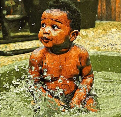 splashing child